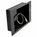 Peerless In-Wall Large Metal Box with 1 knock out for A/V Accessories (Black) - IBA2