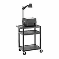 PixMate Plastic Cart with 3 Outlet Electrical and Black Drapery Kit