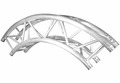 TRUSST 290mm (12in) Truss arc (90�), creates 2m (6.6ft) outside diameter circle - CT290-420CIR-90
