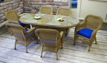Aquarius Oval Dining Set of 7 (MF)
