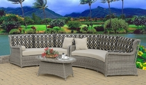 Bahama Wingback Curved Sectional Set