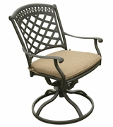 "Blanca 36"" Swivel Bistro Set of Three"