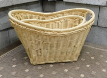 Classic Wicker Basket Hamper Set of 2 (UPS $35)