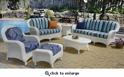 Coral Bay Loveseat Cushions with Fran's Indoor/Outdoor Fabrics (UPS $50)