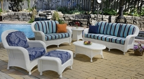 Coral Bay Sofa Cushions with Fran's Indoor/Outdoor Fabrics (UPS $75)
