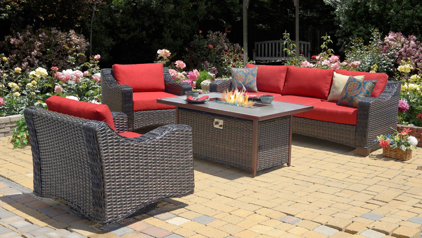 - Hyde Park Fire Pit Coffee Table (MF)
