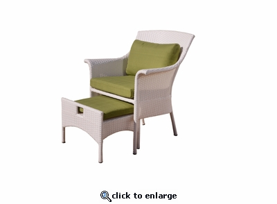 Katalina Chair and Stowaway Ottoman (MF)