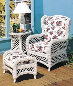 Lanai Wing Chair and Ottoman Set of 2
