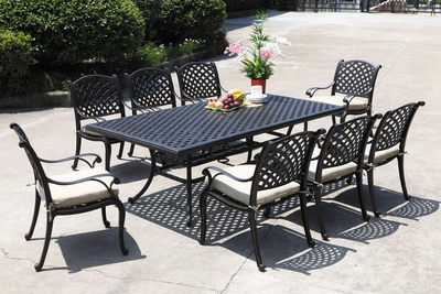 "Lancaster 84"" x 46"" Rectangular Dining Set of Nine"" title=""Lancaster 84"" x 46"" Rectangular Dining Set of Nine"
