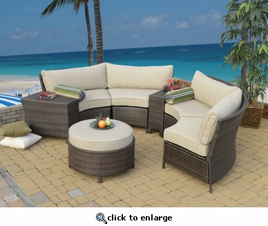 Lyndhurst Circular Sectional Set of Seven (MF)