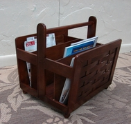 Mahogany  Magazine Rack (UPS $25) (25% Off!)