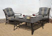 Napoli Square Fire Pit Set of 3 (MF)
