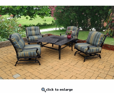 Napoli Square Firepit Set of 5 (MF)