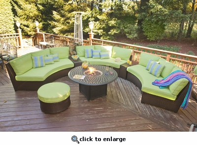 Oceanview Outdoor Modular Sectional Set of 4 (MF)