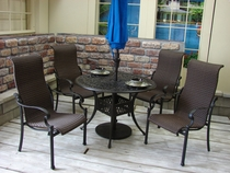 Olina Cast Wicker Dining Set of 5 (MF)