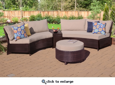 Peyton Circular Sectional Set of Four (MF)
