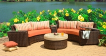 Primavera Circular Sectional Set of 6