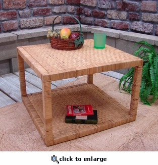 Rattan Square End Table (UPS $65) (30% Off!)