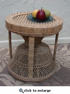 Round Cane Table (UPS $30) (40% Off!)