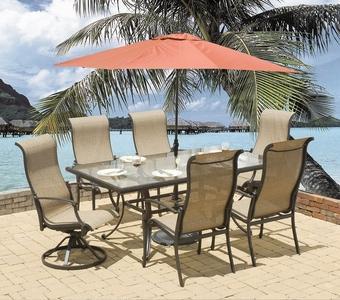 Somerset Glass Top Dining Sets