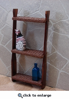 Wicker Canoe Paddle Shelf (UPS $30) (40% Off!)