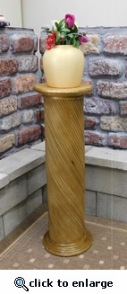 Wicker Pedestal Display Table (UPS $40)