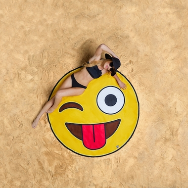 Crazy Emoji Beach Blanket