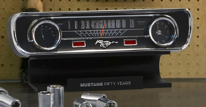 Ford Mustang Desktop Sound Clock Thermometer