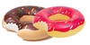 Giant Donut Pool Float Set - Strawberry and Chocolate