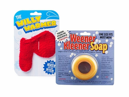 Men's Gag Gift Set – Willy Warmer and Weener Kleener
