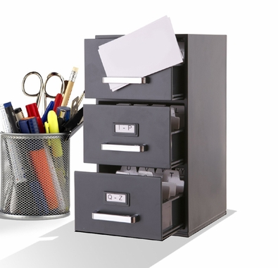 Mini File Cabinet Business Card Holder