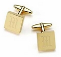 Personalized Cufflinks - Addison High Polish Brass