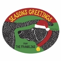 Personalized Dog Seasons Greetings Doormat