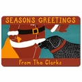 Personalized Santa Seasons Greetings Doormat