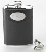 Personalized Torrance Leather Flask