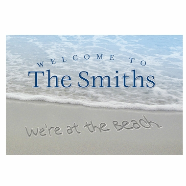 Personalized We're at the Beach Doormat