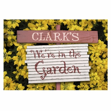 Personalized We're in the Garden Doormat