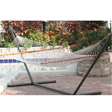 Smart Solar 50404-NTP Cancun Premium Double Rope Hammock