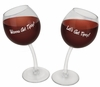 Tipsy Wine Glasses - Set of Two