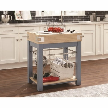 10298 Kitchen Island with Removable Cutting Board