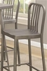 10593 Industrial Bar Stool with Saddle Seat