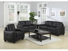 2 PC Jasmine Leather Sofa, Loveseat