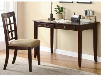 2 PC Table Desk with Two Drawers & Desk Chair
