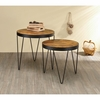 2-Piece Nesting Table Set with Hairpin Legs