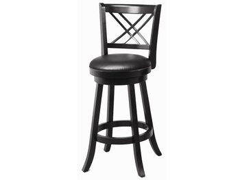 "29"" Swivel Bar Stool with Upholstered Seat"