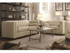 2PC Cairns Stationary Sofa and loveseat with Tufted Back and Lumbar Pillows