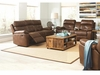 2PC Damiano Casual Faux Leather Reclining Sofa and Loveseat with Button Tuft Detailing