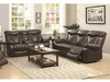 2PC Zimmerman Power Reclining Sofa and loveseat with Pillow Arms