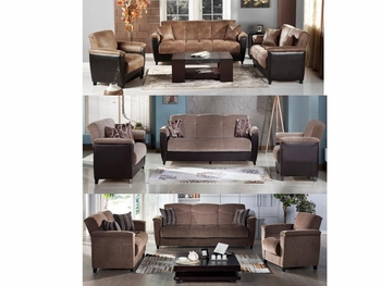 2PC Set Aspen Stylish Sofa and Loveseat VA Furniture