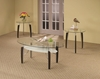 3 PC Contemporary Round Occasional Table Sets Coffee & End Table Set